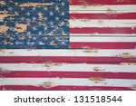 Distressd American Flag Is...