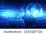 artificial intelligence. ai... | Shutterstock .eps vector #1315187726