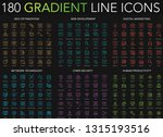 180 trendy gradient style thin... | Shutterstock .eps vector #1315193516