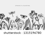 first spring flowers design. ... | Shutterstock .eps vector #1315196780