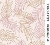 palm leaves line hand drawn... | Shutterstock .eps vector #1315197866