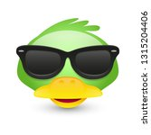 duck with sunglasses. a pet... | Shutterstock .eps vector #1315204406