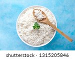 bowl with boiled rice with... | Shutterstock . vector #1315205846