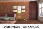 interior of the living room. 3d ... | Shutterstock . vector #1315206629