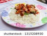 fried crispy pork with thai... | Shutterstock . vector #1315208930