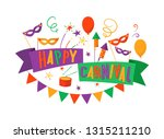 happy carnival colorful festive ... | Shutterstock .eps vector #1315211210