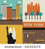 Symbols Of New York. Vector