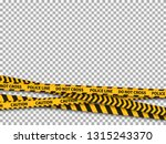 police line background. caution ... | Shutterstock .eps vector #1315243370