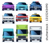 car front view icons set.... | Shutterstock .eps vector #1315243490