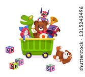 kids toys box. toy kid child... | Shutterstock .eps vector #1315243496