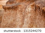 isolated reddish soil surface... | Shutterstock . vector #1315244270
