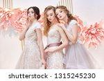 beautiful trio brides in... | Shutterstock . vector #1315245230