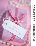 Pink Gift Wrapped Box With...