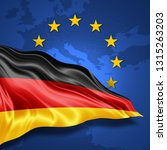 germany flag of silk with... | Shutterstock . vector #1315263203