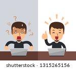 vector cartoon man expressing... | Shutterstock .eps vector #1315265156