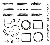 set of hand drawn markers ... | Shutterstock .eps vector #1315272236
