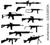 weapons in silhouettes