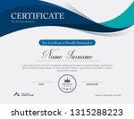 vector certificate template | Shutterstock .eps vector #1315288223