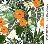 floral fashion tropic wallpaper ... | Shutterstock .eps vector #1315290629
