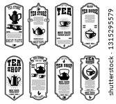 set of tea house flyer... | Shutterstock .eps vector #1315295579
