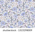 fantasy blue flowers at folk... | Shutterstock .eps vector #1315298009