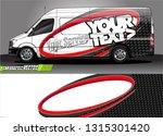 van wrap design. simple lines...   Shutterstock .eps vector #1315301420
