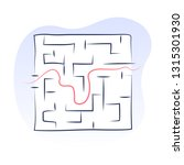 the maze  labyrinth with one... | Shutterstock .eps vector #1315301930