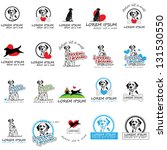Stock vector dog icons isolated on white background vector illustration graphic design editable for your 131530550