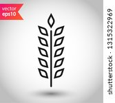 wheat vector icon. agriculture... | Shutterstock .eps vector #1315322969