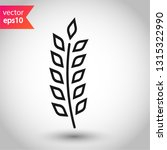 wheat vector icon. agriculture... | Shutterstock .eps vector #1315322990