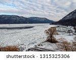 hudson river in winter ... | Shutterstock . vector #1315325306