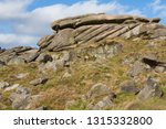 gritstone outcrops of rock in... | Shutterstock . vector #1315332800
