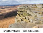 rocky escarpment at stanage... | Shutterstock . vector #1315332803