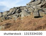 gritstone outcrops of rock in... | Shutterstock . vector #1315334330