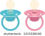 baby's dummy icon  blue and... | Shutterstock .eps vector #1315338140