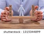human figure standing between... | Shutterstock . vector #1315344899