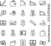 thin line icon set   credit... | Shutterstock .eps vector #1315355660