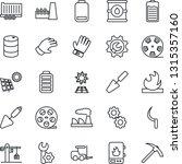 thin line icon set   fork... | Shutterstock .eps vector #1315357160