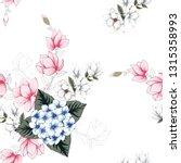seamless pattern beautiful blue ... | Shutterstock .eps vector #1315358993