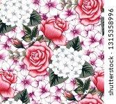 seamless pattern beautiful pink ... | Shutterstock .eps vector #1315358996