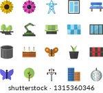 color flat icon set window flat ... | Shutterstock .eps vector #1315360346