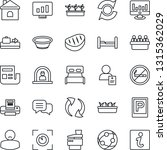 thin line icon set   baggage... | Shutterstock .eps vector #1315362029