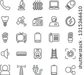 thin line icon set   antenna...   Shutterstock .eps vector #1315366610