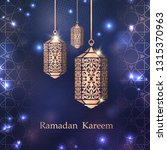 ramadan kareem greeting card... | Shutterstock .eps vector #1315370963