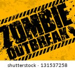 grunge zombie outbreak | Shutterstock .eps vector #131537258