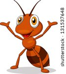 Cute Ant Cartoon Waving