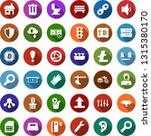 color back flat icon set   plow ... | Shutterstock .eps vector #1315380170