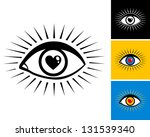 eye with the pupil in the form... | Shutterstock .eps vector #131539340