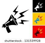 set illustration of megaphone...   Shutterstock .eps vector #131539928