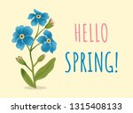spring greeting card with... | Shutterstock .eps vector #1315408133